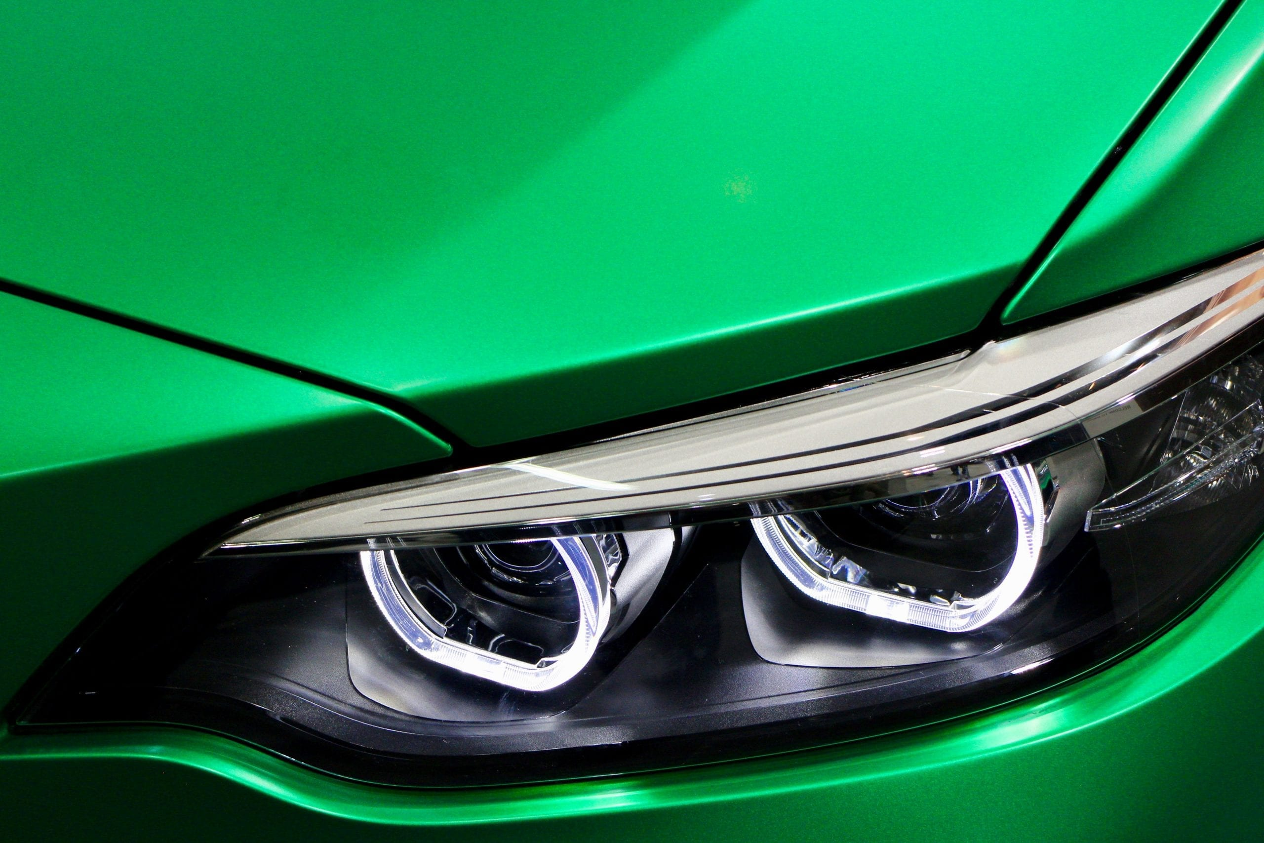 shiny green car after ming's unlimited detailing