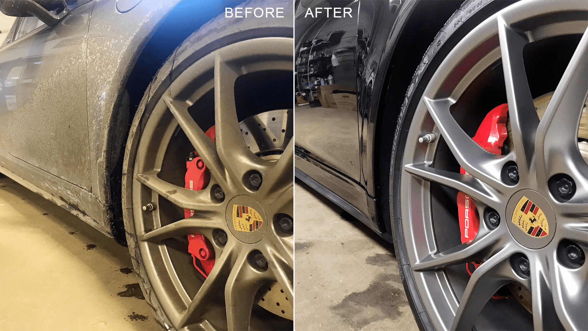 clean tires before and after